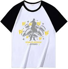 Amazon.co.jp: Jojo's Bizarre Adventure Cotton <b>T</b>-<b>Shirt</b>, <b>Men's Print</b> ...