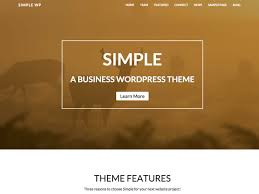 wp simple themes as its suggests the simple theme is intended to provide a simple clean minimal layout from which you can develop your website