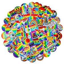 100 PCS Bright Colorful Rainbow Stickers Suitcase ... - Amazon.com