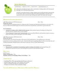 free sample teacher resume sample resumes resume sample for teaching job