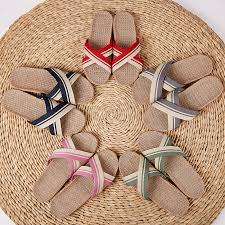 HRFEER <b>2018 New Summer</b> Men Flax Flip Flop <b>Canvas</b> Linen Non ...