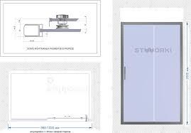 <b>Душевая дверь</b> в нишу STWORKI Стокгольм DE019D2100200 <b>100</b> ...