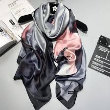 2019 <b>luxury brand</b> summer <b>women scarf</b> fashion quality soft <b>silk</b> ...
