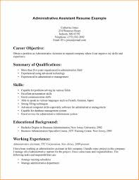 career objective examples for administrative assistant basic cover letter sample entry level administrative assistant uncategorized career objective