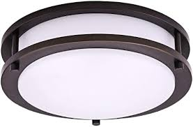 OSTWIN <b>10 Inch LED</b> Flush Mount Ceiling Light, Dimmable Round ...