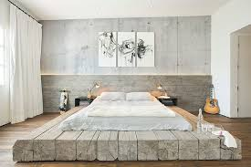 zen colors bedroom design: view in gallery bleached salvaged wood used to create custom platform bed in the industrial bedroom design