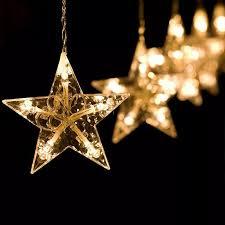 2.5M 138 <b>led moon star fairy</b> lights Christmas <b>star</b> string light garland ...