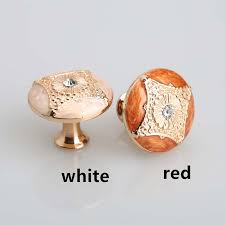 kitchen cabinet pulls handles rose gold drawer knobs red white amber dresser handle glass diamond modern cheap furniture knobs