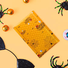 Fuxury #000 4x8 Inch <b>Halloween</b> Bubble Mailer <b>Pumpkin</b> Skull <b>Bat</b> ...