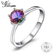 JewelryPalace sterling silver ring Womens 1ct <b>Mystic</b> Fire Rainbow ...