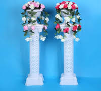 2pcs gold roman columns fashion wedding props decorative plastic pillars flower pot road lead stand party event free shipping