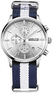 BAOGELA Fashion Men's Sports Chronograph Thin ... - Amazon.com