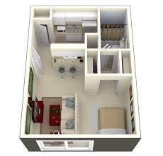 Modern One Bedroom Apartment Design Studio Apartment Floor Plans