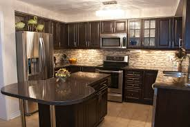 colored kitchen cabinets pictures cozy kitchen is stuffed with dark wood cabinetry with brushed metal ha