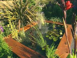 diy patio pond: portable pond hgpg  water feature portable pondjpgrendhgtvcom