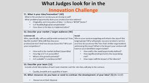 innovation challenge additionally feel to drop into help sessions and more about what the judges are looking for here