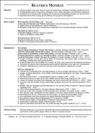teaching resume example teacher resume templates
