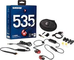 <b>Вставные наушники Shure SE</b> 535 LTD BT1-EFS красный купить в ...