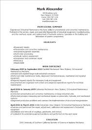 Professional Industrial Maintenance Mechanic Resume Templates to ... Resume Templates: Industrial Maintenance Mechanic Resume