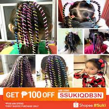 socool  6 Pcs/<b>Set</b> Kids Curler Hair Braid Hair Sticker Baby Girls ...