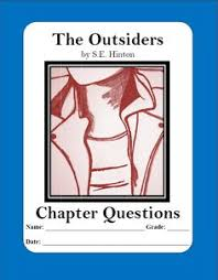 Pinterest     The world     s catalog of ideas LIT QUESTIONS   The Outsiders by S E  Hinton chapter questions that helps students explore this coming