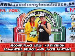 monterey beach open official website of the second place girls 14u samantha belucci and jackie pantane