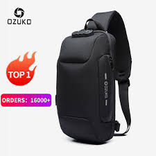 OZUKO <b>2019 New</b> Multifunction Crossbody <b>Bag</b> for Men Anti theft ...