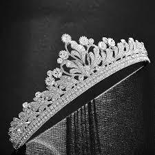 Luxurious <b>Rhinestone</b> Freshwater Pearls Tiara <b>Crown</b> For Bride ...