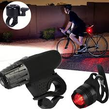 <b>Waterproof LED</b> Bike Bicycle Cycling Front <b>Rear Tail</b> Light Lamp ...