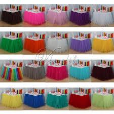 <b>3Pcs</b>/Lot Tutu <b>Skirts100cm x 80cm</b> Tulle Skirt Table Skirt for Event ...