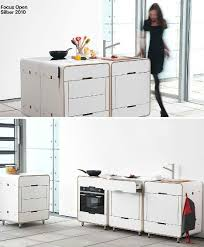 functional mini kitchens small space kitchen unit: a la carte system by stadtnomaden