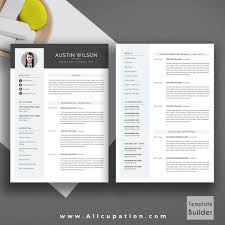 creative resume template modern cv template word cover letter allcupation professional resume template cv template 1 2 and 3 page resume