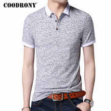 <b>COODRONY</b> Small Turn-down Collar Top Homme Casual Print <b>Tee</b> ...