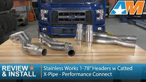 "<b>2015</b>-2016 F-150 <b>Stainless</b> Works 1-7/8"" Headers w/ Catted X-Pipe ..."