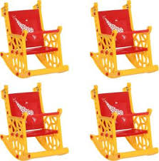 <b>Supreme</b> Giraffe Kids Rocking Chair Set Of 4, <b>Red</b> & <b>Yellow</b> Plastic ...