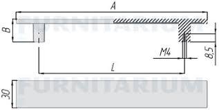 <b>Ручка</b>-<b>скоба 160мм черный</b> глянец, 369B.160.51, 369B.160.51 ...