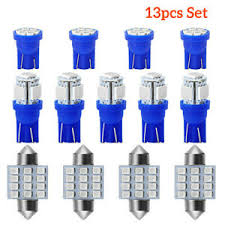 <b>13x Blue Lights</b> Auto Car Interior LED Dome License Plate Lamp ...