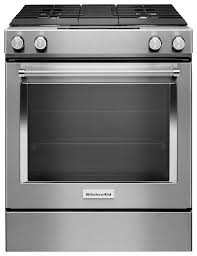 Gas Stainless Steel Cooktop Kitchenaid 64 Cu Ft Self Cleaning Slide In Dual Fuel Convection