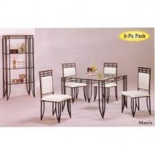 dining room tables chairs square: pc matrix style black wrought iron square dining table w chairs set iron dining table