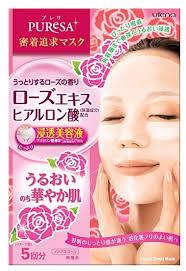 Utena <b>листовая маска</b> Puresa с экстрактом розы и гиалуроновой ...