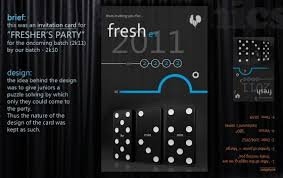 Invitation Card for Freshers Party | Visual.ly