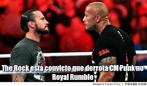 The Rock está convicto que derrota CM Punk no Royal Rumble ... via Relatably.com