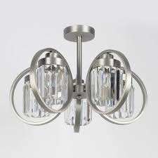 <b>Люстра Eurosvet 10095/5</b> сатин-никель/прозрачный хрусталь ...