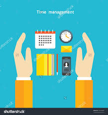 flat design colorful vector illustration concept stock vector flat design colorful vector illustration concept for timing time management work schedule assignment