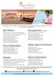 royal island resort spa job mv mar 14 royal island resort spa