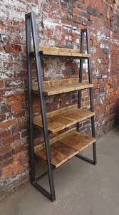 industrial chic reclaimed custom steel wood bookcase media shelving unitdvd books cafe restaurant furniture rustic chic office filing 243 chic industrial furniture
