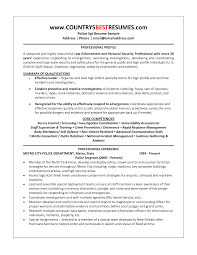 security officer resume examples progressiverailus surprising security officer resume examples police officer resume getessayz images police officer resume