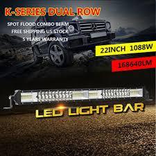 <b>Ultra</b>-<b>thin</b> 22inch 1088W <b>LED</b> Work Light Bar Spot Flood Combo ...