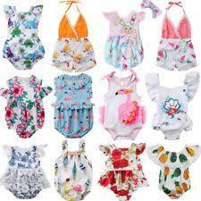 Fashion Newborn Kids <b>Baby</b> Girl Flower Romper Jumpsuit Sunsuit ...