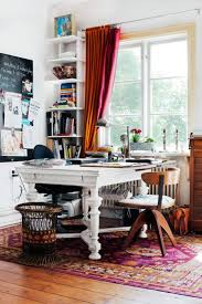 40 floppy but refined boho chic home office designs_26 chic home office desk